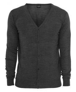 Cardigan tricot gri carbune Urban Classics - Lichidare - Urban Classics>Lichidare