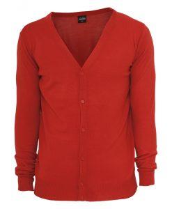 Cardigan tricot rosu Urban Classics - Lichidare - Urban Classics>Lichidare