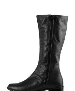 Cizme negre din piele naturala model RF25 - Outlet -