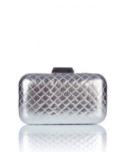 Clutch argintiu matlasat Argintiu - Genti - Genti / Clutch-uri