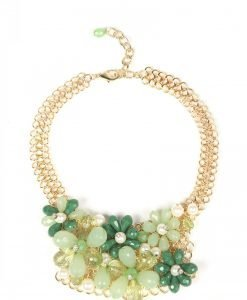 Colier elegant cu pietre verzi Auriu/Verde - Accesorii - Accesorii / Coliere