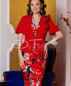 Compleu Zaira Rosu Elegant - ROCHII -