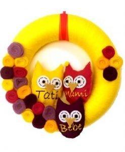 Coroniță Bufnițe Family 3 - Produse > Cadouri WoW > Cadouri pentru maternitate/botez -