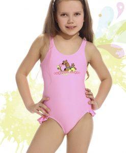 Costum de baie fetite Smiling roz - Promotii - Promotiile saptamanii