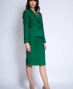 Costum office din stofa subtire MARTA verde - Compleuri -