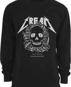 Cream Skull Crewneck negru Mister Tee - Bluze cu mesaje - Mister Tee>Regular>Bluze cu mesaje