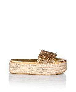 Espadrile cu gliter si talpa platforma Auriu - Incaltaminte - Incaltaminte / Pantofi fara toc
