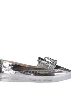 Espadrile dama Brown argintii - Incaltaminte Dama - Espadrile Dama