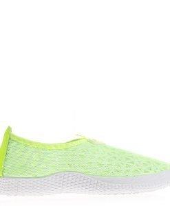Espadrile dama Melanie verde neon - Incaltaminte Dama - Espadrile Dama