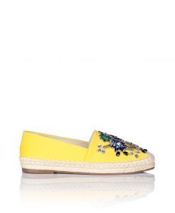 Espadrile decorate cu pietre colorate de sticla Galben - Incaltaminte - Incaltaminte / Pantofi fara toc