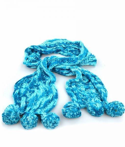 Fular dama 7146 albastru – Promotii – Lichidare Stoc