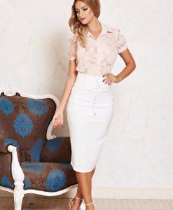 Fusta Daniella Cristea Style White - Fuste -