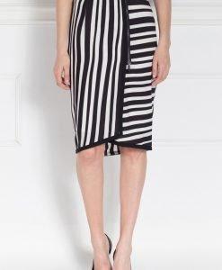 Fusta casual din print alb negru Alb/Negru - Imbracaminte - Imbracaminte / Fuste