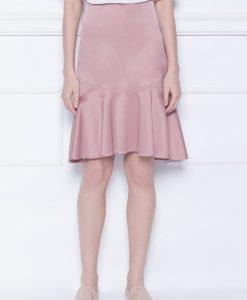 Fusta roz midi cu volan Roz - Imbracaminte - Imbracaminte / Fuste