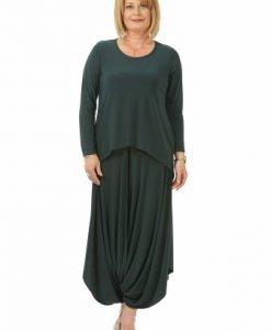 Fusta verde tip pantalon F025-VM - Marimi mari -