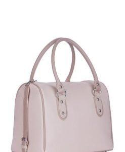 Geanta bej-roze din piele naturala P091 - Genti office -