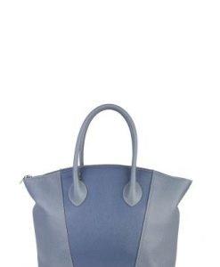 Geanta bleu din piele naturala P122 - Genti casual -