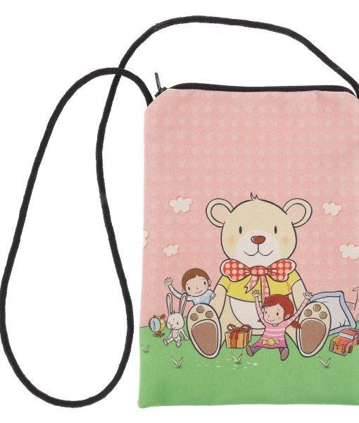 Geanta copii Teddy roz cu verde – Aксесоари – Aксесоари Детски