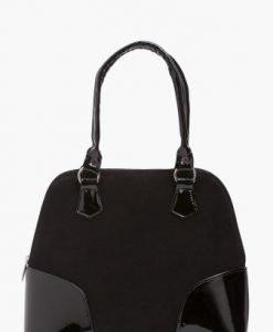 Geanta neagra din piele naturala M005C-N - Genti office -