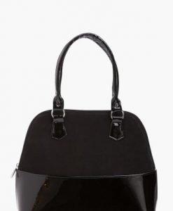 Geanta neagra din piele naturala M005CD-N - Genti office -