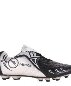 Ghete fotbal barbati isaac negre cu argintiu - Incaltaminte Barbati - Pantofi Sport Barbati