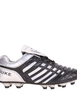 Ghete fotbal copii Franklin negre cu argintiu - Incaltaminte Copii - Pantofi Sport Copii