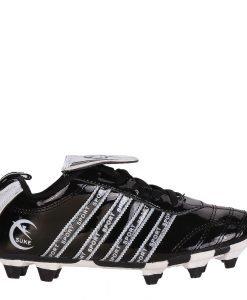 Ghete fotbal copii Rheet negre cu alb - Incaltaminte Copii - Pantofi Sport Copii