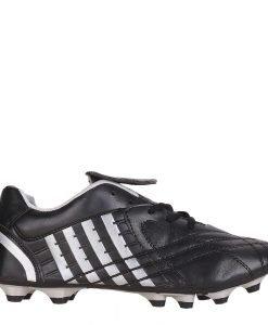 Ghete fotbal unisex Shane negre cu argintiu - Incaltaminte Copii - Pantofi Sport Copii