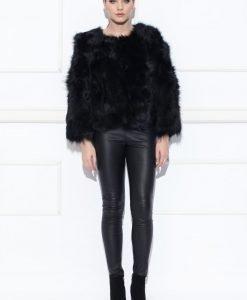 Haina neagra din blana de marmota Negru - Imbracaminte - Imbracaminte / Haine de blana