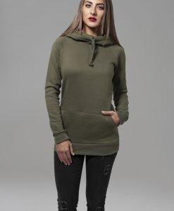 Hanorac cu guler inalt Raglan pentru Femei oliv Urban Classics - Hanorace urban - Urban Classics>Femei>Hanorace urban