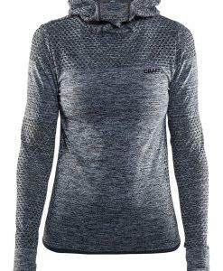 Hanorac dama Craft Core Hood Seamless Grey material functional - Lenjerie pentru femei - Al doilea strat