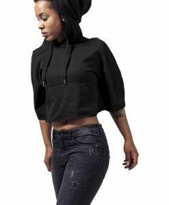 Hanorac scurt tip poncho cu gluga pentru Femei negru Urban Classics - Hanorace urban - Urban Classics>Femei>Hanorace urban