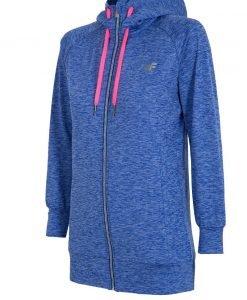 Hanorac sport de dama 4F Blue melange - Haine si accesorii - Hanorace jachete