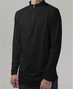 Helanca cu fermoar si maneca lunga Lung negru Urban Classics - Bluze cu maneca lunga - Urban Classics>Barbati>Bluze cu maneca lunga