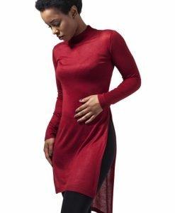 Helanca lunga material fin pentru Femei rosu burgundy Urban Classics - Tricouri urban - Urban Classics>Femei>Tricouri urban