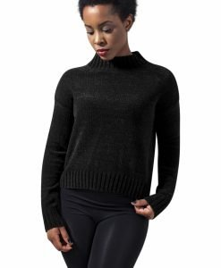 Helanca tricot pentru Femei negru Urban Classics - Bluze urban - Urban Classics>Femei>Bluze urban