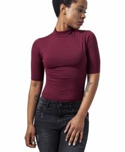 Helanci scurte cu maneca trei sferturi pentru Femei rosu burgundy Urban Classics - Topuri scurte - Urban Classics>Femei>Topuri scurte