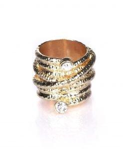 Inel auriu cu pietre Auriu - Accesorii - Accesorii / Inele