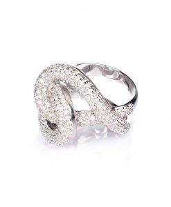 Inel din argint cu pietre de sticla Argintiu - Accesorii - Accesorii / Inele