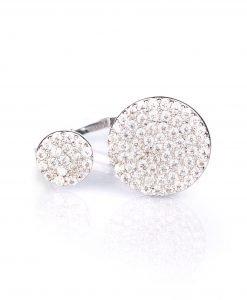 Inel elegant cu pietricele Argintiu - Accesorii - Accesorii / Inele