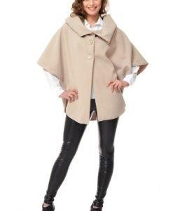 Jacheta casual larga din stofa ST02 crem - Jachete -