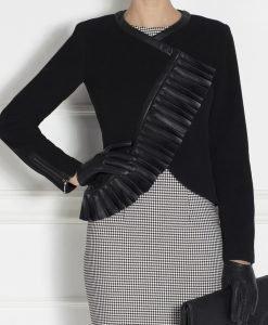 Jacheta cu revere din piele ecologica Negru - Imbracaminte - Imbracaminte / Jachete si cardigane / Jachete