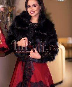 Jacheta dama din blana neagra - PALTOANE si GECI -