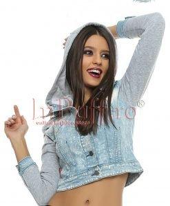 Jacheta de blugi cu maneca lunga - PALTOANE si GECI -