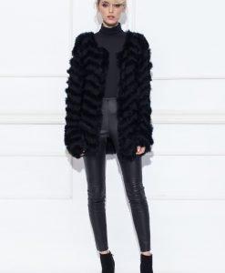 Jacheta din blana cu croiala lejer Negru - Imbracaminte - Imbracaminte / Jachete si cardigane / Jachete
