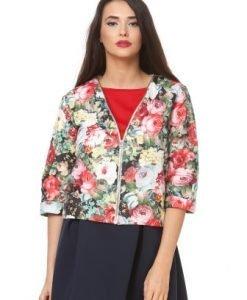 Jacheta din fas cu imprimeu floral D2329 - Jachete -