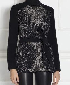 Jacheta din stofa de lana cu dantela Negru - Imbracaminte - Imbracaminte / Jachete si cardigane / Jachete