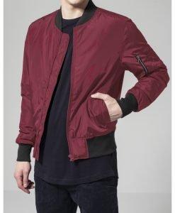Jacheta doua culori Bomber rosu burgundy-negru Urban Classics - Geci bomber - Urban Classics>Barbati>Geci bomber