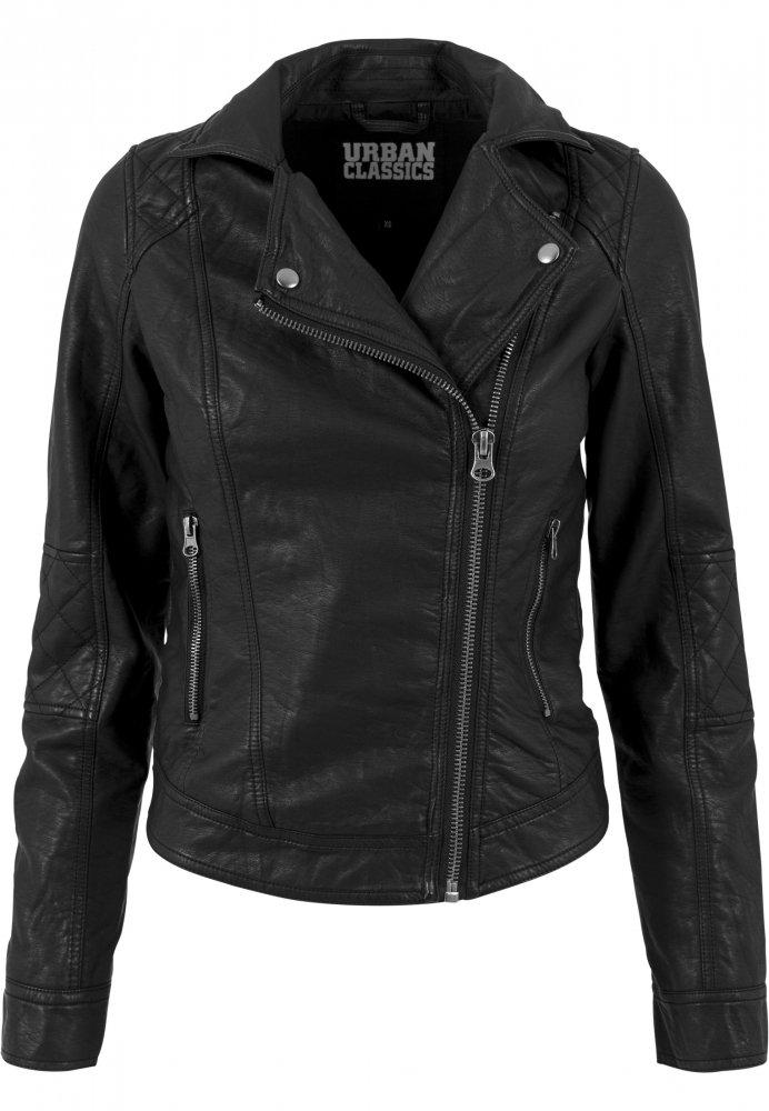 Cel mai bun oferta specifica top fashion Jacheta imitatie piele Biker pentru Femei negru Urban Classics ...