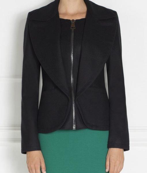 Jacheta moderna cu fermoar frontal Negru – Imbracaminte – Imbracaminte / Jachete si cardigane / Jachete